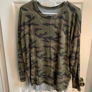 American Eagle camo sweater